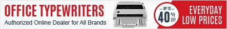 Save on Office Typewriters Everyday
