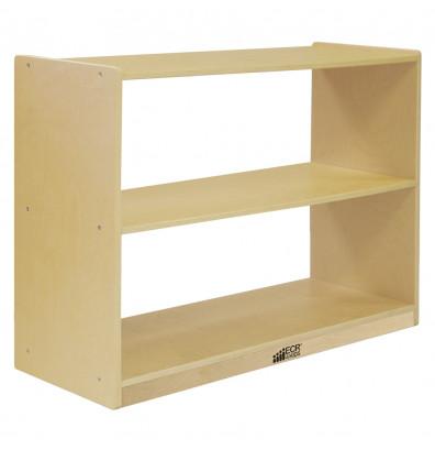 ECR4Kids Birch 2-Shelf Classroom Storage Cabinet without Back