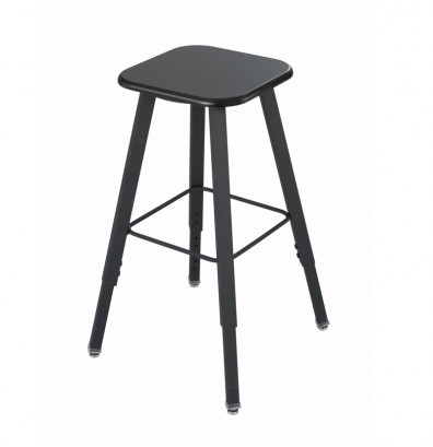 Safco AlphaBetter Adjustable Height Student Lab Stool (Shown in Black)