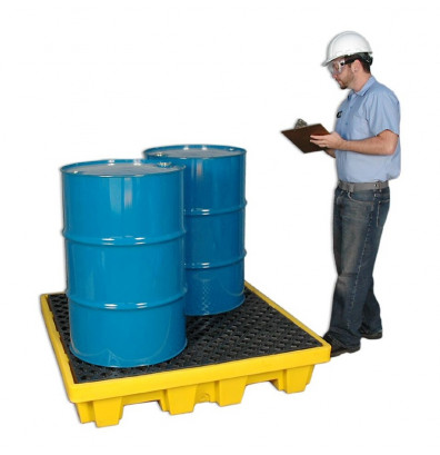 """Ultratech 1230 P4 51"""" W x 51"""" L Nestable Spill Pallet without Drain, 66 Gallons (example of application)"""