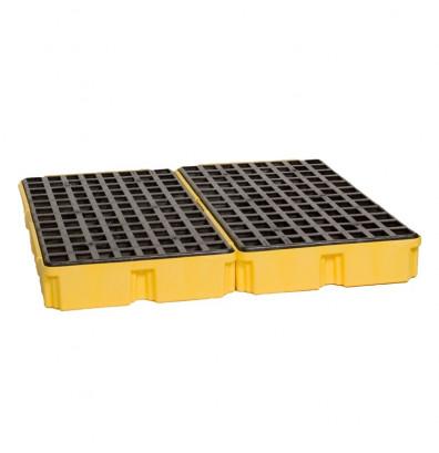 "Eagle 1634 4-Drum 52.5"" W x 51.5"" L Modular Platform Unit without Drain, 60 Gallons, Yellow"