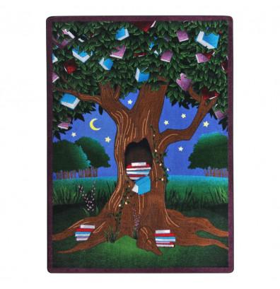 Joy Carpets Reading Tree Rectangle Classroom Rug