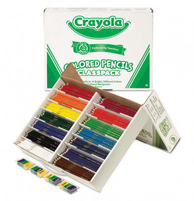 Crayola 3.3 mm Assorted Colors Woodcase Pencils, 462-Pack