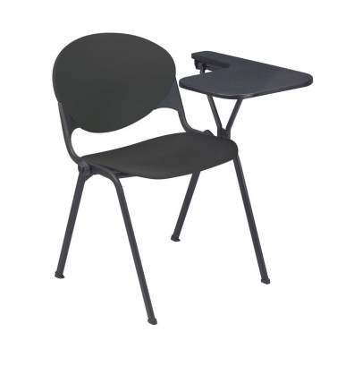 """KFI Seating 2000-P 14"""" x 20"""" Tablet Arm Stacking Chair, Left-Hand (Charcoal)"""