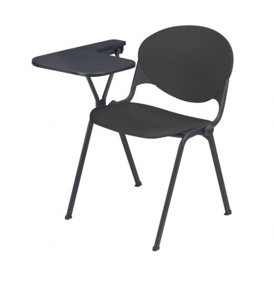 """KFI Seating 2000-P 14"""" x 20"""" Tablet Arm Stacking Chair, Right-Hand (Charcoal)"""