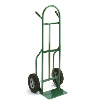 "Wesco 646Z2 Standard Steel Hand Truck 7"" x 14"" Nose 600 lbs Capacity 10"" Poly/Solid Rubber Wheels"