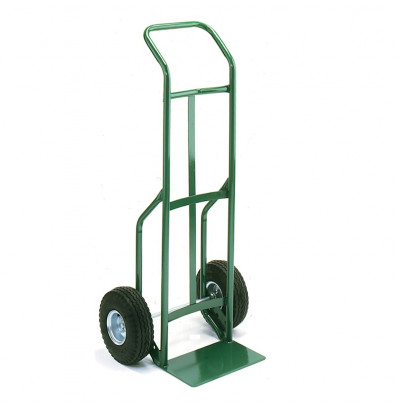 """Wesco 656Z2 Standard Steel Hand Truck 7"""" x 14"""" Nose 600 lbs Capacity 10"""" Poly/Solid Rubber Wheels"""