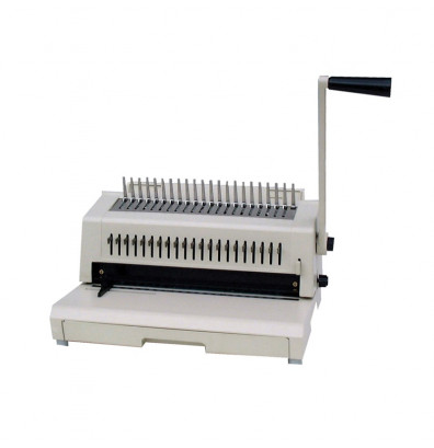 Tamerica 213PB Manual Punch Plastic Comb Binding Machine w/ 3-Hole Punch