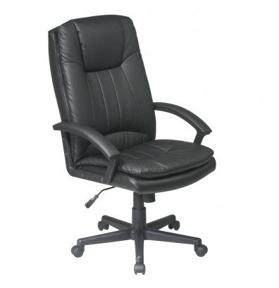 Office Star Deluxe Eco-Leather High-Back Executive Chair (Model EC22070-EC3)