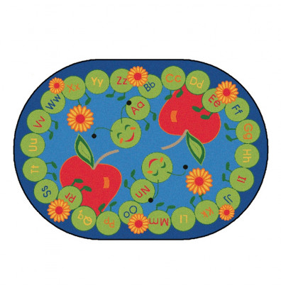 Carpets for Kids ABC Caterpillar Classroom Rug
