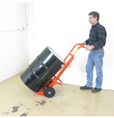 Wesco 20BTW Floating Axle 1000 lb Load Steel Drum Hand Truck, Polyolefin  wheels
