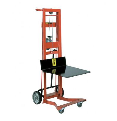 "Wesco WDPL-54-2230 4-Wheel 54"" Lift Manual Hand Winch Platform Stacker"