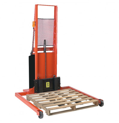 """Wesco PASFL6440S Adjustable Span Straddle 64"""" Lift Height Power Stacker (Lift Equipment)"""
