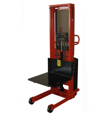 """Wesco PSPL-90-2427-20S-2K-PD 90"""" Lift 2000 lb Load Platform Powered Stacker with Power Drive"""