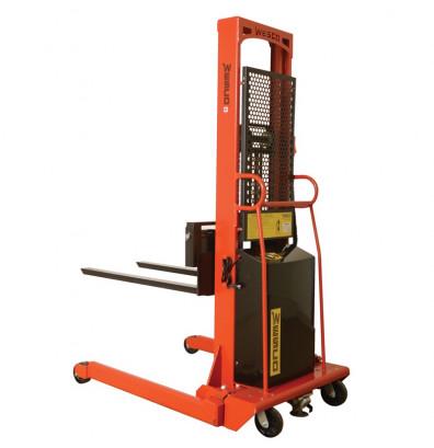 "Wesco PSFL-86-25-20S-1.5K 86"" Lift 1500 lb Load Powered Fork Stacker"