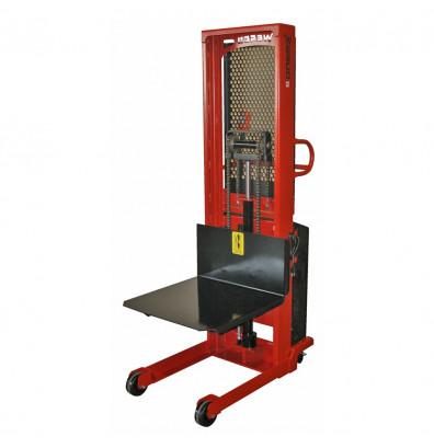 "Wesco 90"" Lift 2000 lb Load Powered Lift Electric Platform Stacker"
