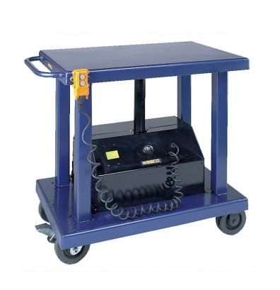 "Wesco PLT-20-2436 2000 lb Load 24"" x 36"" Powered Lift Table"