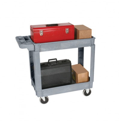 """Wesco DPC-2436 550 lb Load 24"""" x 36"""" Deluxe Plastic Service Cart"""