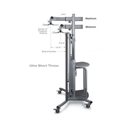 Best-Rite iTeach 27605 Cart w/Ultra Short Throw Arm