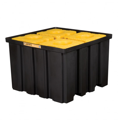Just-Rite Ecopolyblend 28674 372-Gallon Capacity Indoor IBC Intermediate Bulk Crate with Forklift Pockets