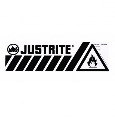 Just-Rite Haz-Alert 29003 Flammable Large Safety Band Label for Bottom of Safety Cabinet