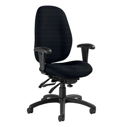 Global Malaga Fabric Multi-Tilter High-Back Office Chair (Shown in Black)