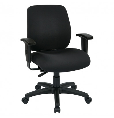 Office Star Work Smart Deluxe Ratchet-Back Fabric Mid-Back Task Chair