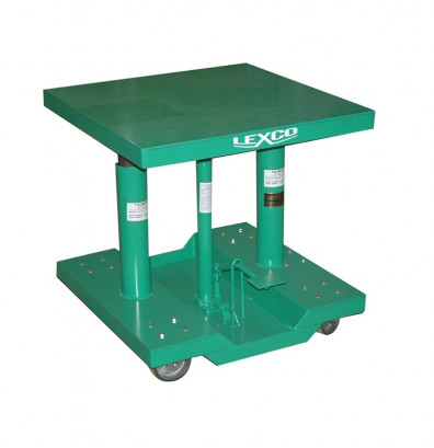 """Lexco HT-3302-2F 20-32"""" Height 2000 lb Load 30"""" x 30"""" Hydraulic Lift Table"""