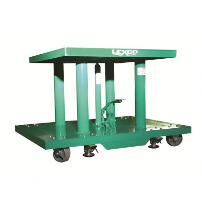 """Lexco HT-3402-24 20-32"""" Height 2000 lb Load 30"""" x 48"""" Hydraulic Lift Table"""