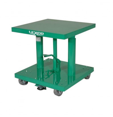 "Lexco HT-316-FR 26-42"" Height 300 lb Load 18"" x 18"" Hydraulic Lift Table"