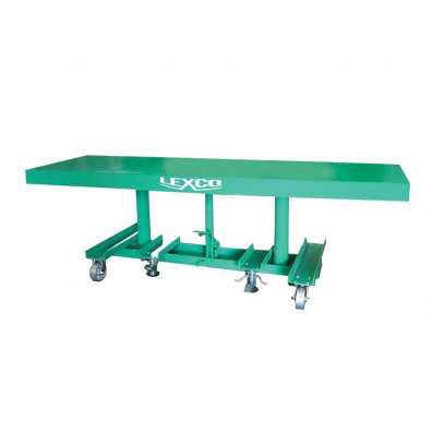 """STN-3006-2F Lexco Long Deck Hydraulic Foot Operated 2,000 lbs Capacity 6' x 30"""" Lift Table"""
