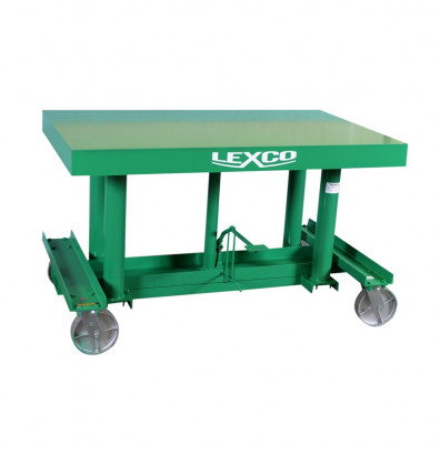 """STN-3610-3F Lexco Load Stabilizer Long Deck Hydraulic Foot Operated 3,000 lbs Capacity 10' x 36"""" Lift Table"""