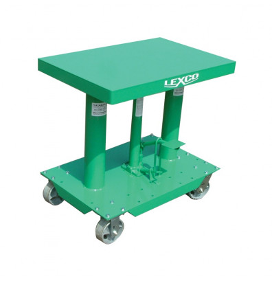 """400 lb Load. 18"""" Lift. Lowered / Raised Height: 30"""" / 48"""". 18"""" W x 24"""" L Table. Foot Operated Hydraulic lift.<br />"""