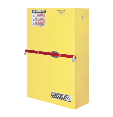 Just-Rite 50961R Replacement Security Bar for High Security 45 Gallon Safety Cabinet, Red (example of use)