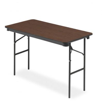 """Iceberg 48"""" W x 24"""" D Economy Wood Laminate Folding Table"""