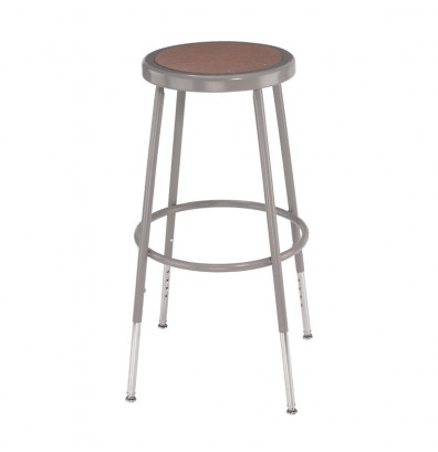 """NPS 31"""" - 39"""" Height Adjustable Round Science Lab Stool, 6230H"""