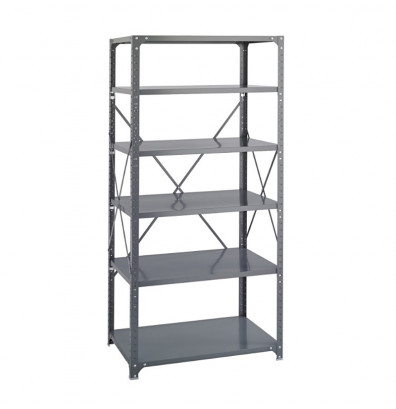 "Safco Commercial 6270 24"" D x 48"" W x 75"" H 6-Shelf Heavy-Duty Steel Shelving Unit"