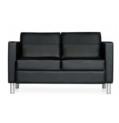 Global Citi Leather Love Seat Sofa