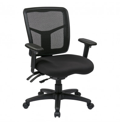 Office Star Pro-Line II Dual-Function ProGrid Mesh-Back Fabric Mid-Back Managers Chair