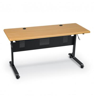 """Balt Flipper 60"""" W x 24"""" D Nesting Training Table (Shown in Teak)"""