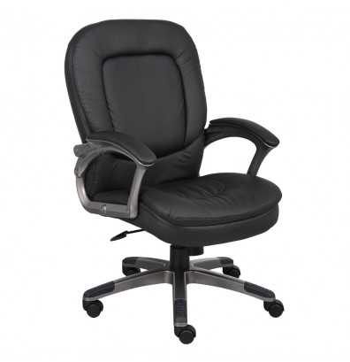 Boss B7106 Pillow-Top CaressoftPlus Mid-Back Executive Office Chair