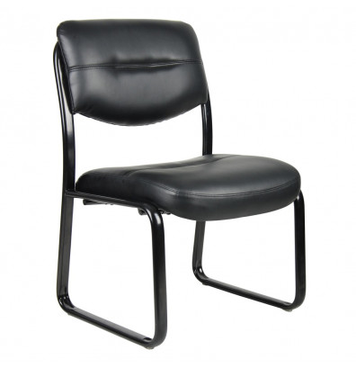 Boss B9539 LeatherPlus Low-Back Guest Chair