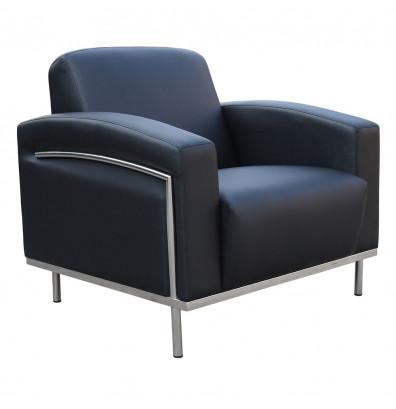 Boss BR99001-BK Contemporary CaressoftPlus Lounge Reception Chair