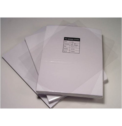 """Akiles 5 Mil 8.5"""" x 11"""" Square Corner Crystal Clear Binding Covers"""