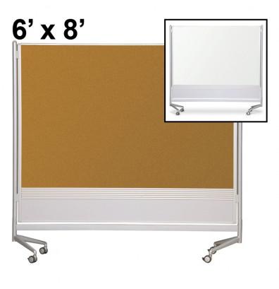 Best-Rite Dura-Rite Laminate/Cork 6 x 8 D.O.C. Mobile Divider Reversible (Both Sides Shown)