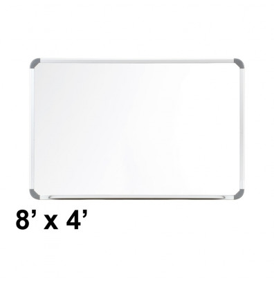 Ghent CTSM3-48-1 Cintra 8 ft. x 4 ft. Euro-Style Magnetic Painted Steel Whiteboard