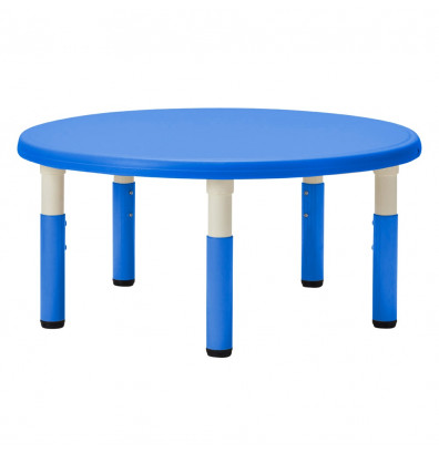 """ECR4Kids 45"""" Dia. Round Resin Height Adjustable Classroom Activity Table (Shown in Blue)"""