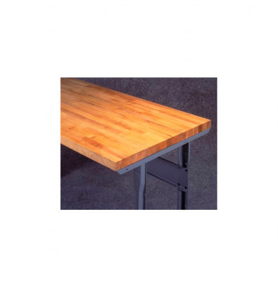 Tennsco G-MT-3660 Hardwood Workbench Top without Stringer (Shown Mounted)