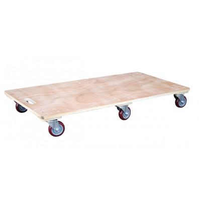 """Vestil HDOS-2448-6SW Hardwood 1200 lb. 24"""" x 48"""" Solid Deck Dolly"""