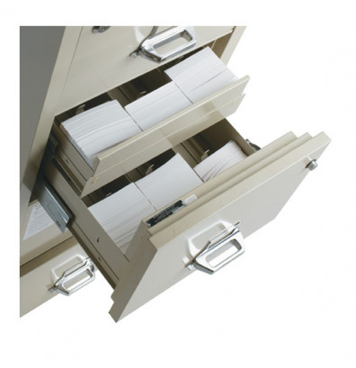 """FireKing 2-Section Insert for 3"""" H x 5"""" W or 4"""" H x 6"""" W Cards (Shown in Parchment)"""